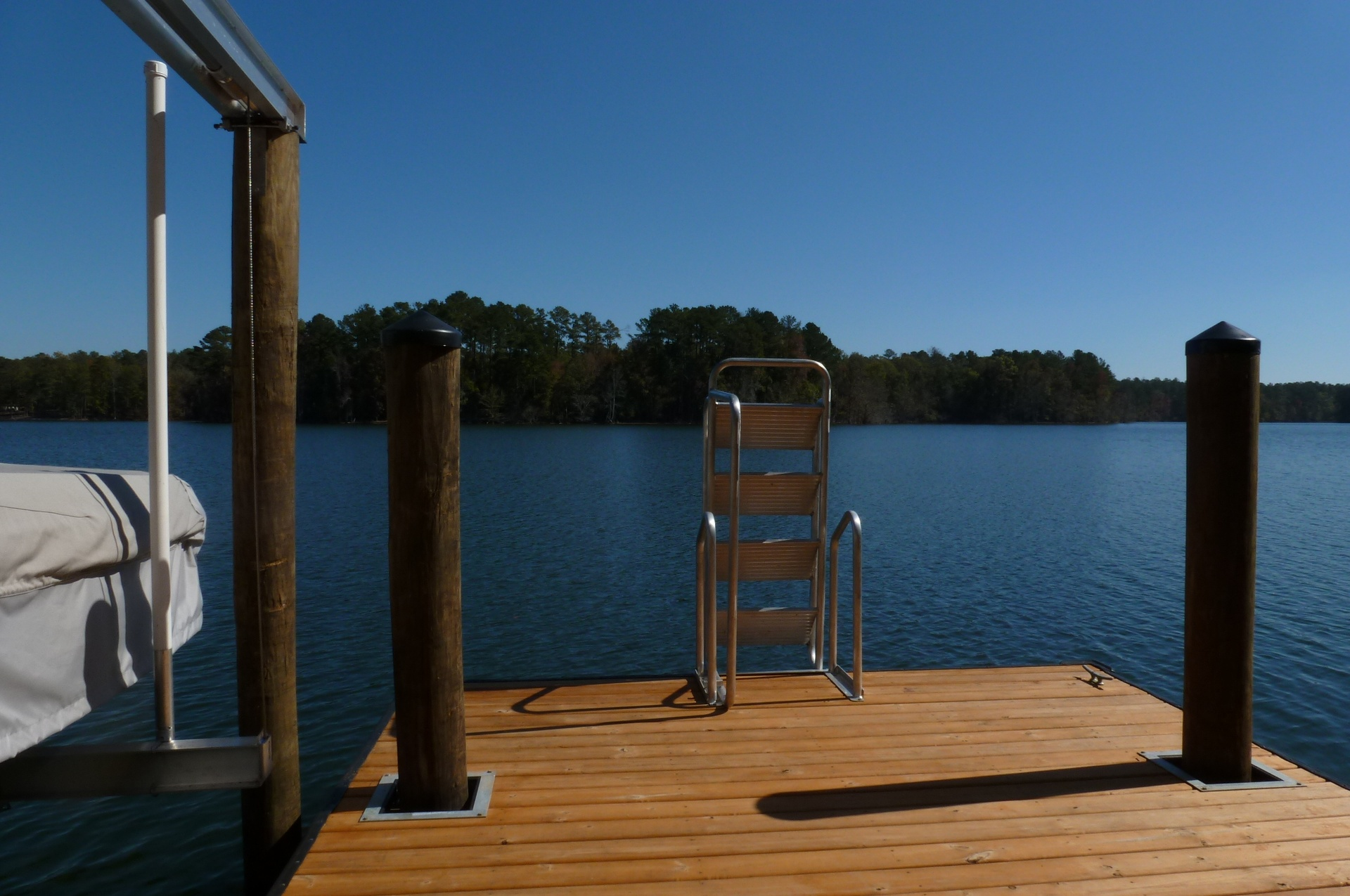A ladder is a great addition to your floating dock