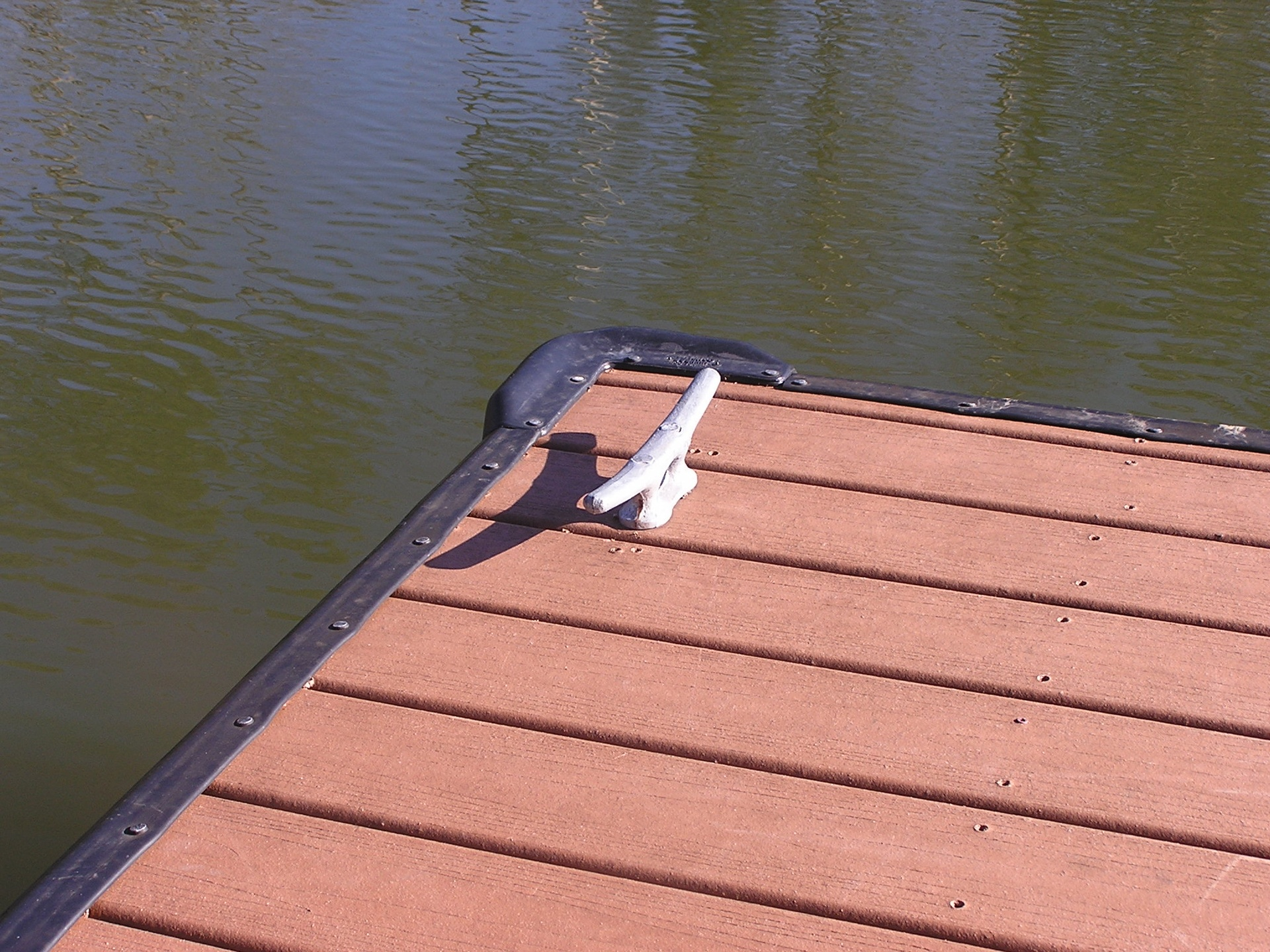 Black Rub Rail with Galvanized Mooring Cleats