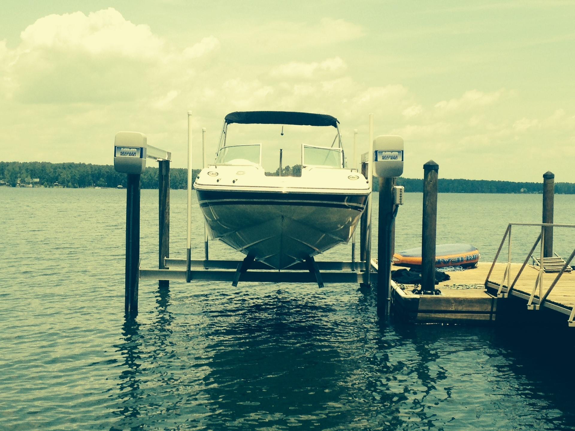 IMM 7,000lb Select Series aluminum cradle boat lift